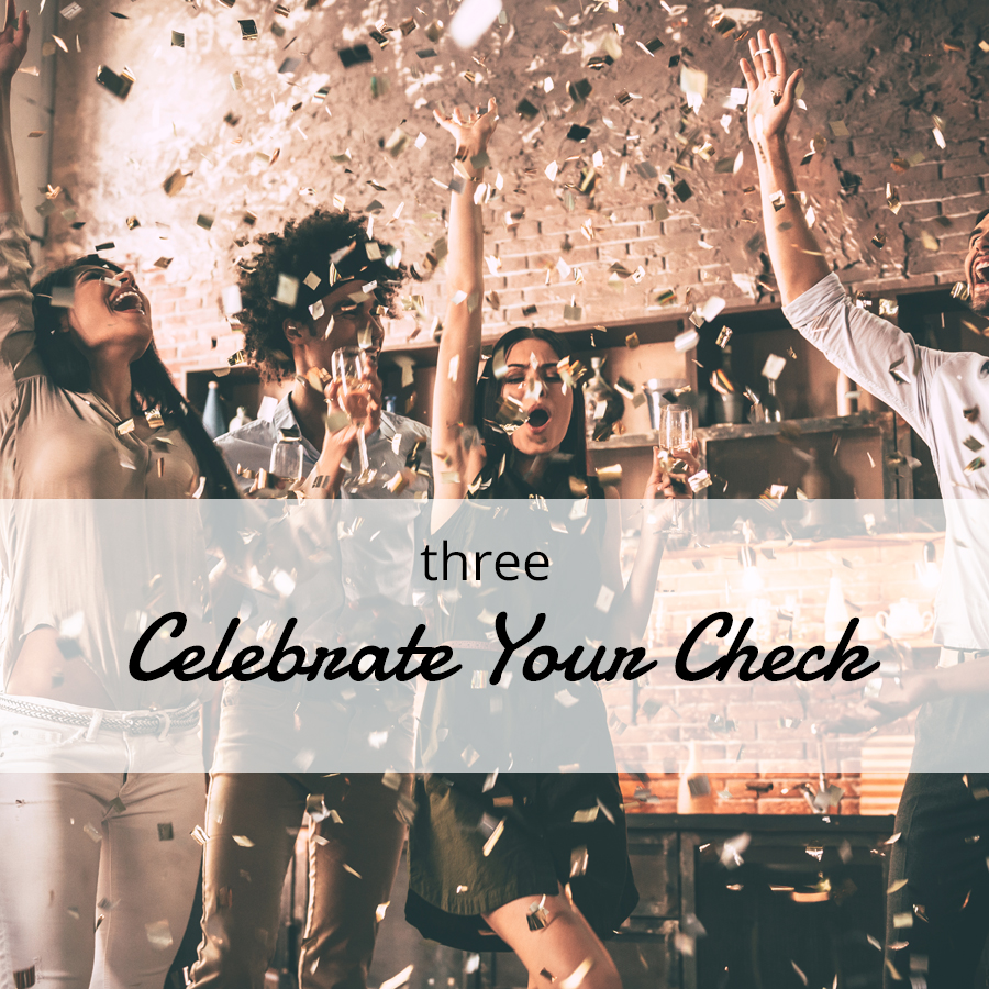Celebrate your check after your fundraising event